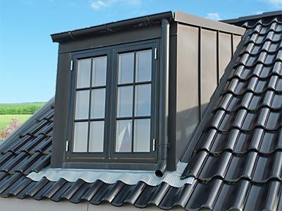 stehendes Dachfenster, Zaspel-Dach - Dachflächenfenster