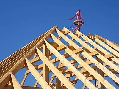 Errichtung eines Dachstuhles, Zaspel-Dach - Zimmermannsarbeiten