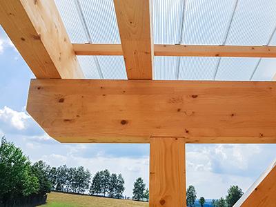 Terrassenüberdachung mit Verbundsicherheitsglas (VSG), Zaspel-Dach