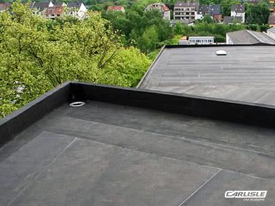 EPDM-Dichtungsbahnen bestehend aus Kautschuk, Zaspel-Dach - Flachdachabdichtungen